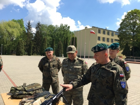 COMSEEBRIG official visit to Lithuanian-Polish-Ukrainian Brigade Command, 16 May 2017