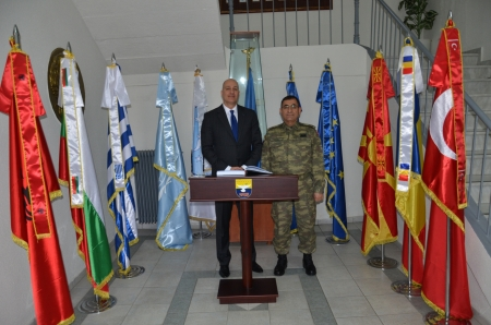Visit of the new PMSC Chairman to SEEBRIG HQ, Tyrnavos, 23 Feb 2017