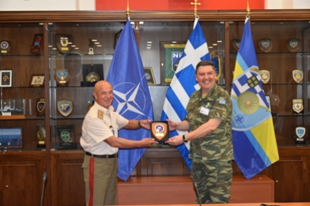SEEBRIG HQ visit to NATO Rapid Deployable Corps - Greece, Thessaloniki/Na 3, 09 July 2020