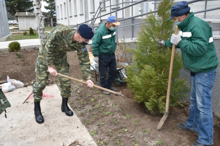 Tree Planting Activity in SEEBRIG HQ, 18 March 2021, Kumanovo/Na 5